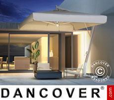 Cantilever parasol Milano Braccio with valance, 3.5x3.5 m, Ecru