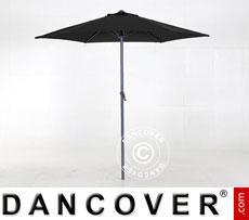 Parasol Ø 3 m, Black