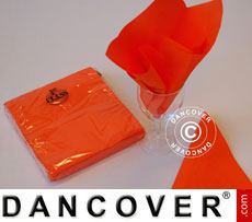Napkins, 3 layers 80 pcs. Orange