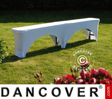 Stretch bench cover 183x28x43 cm, White