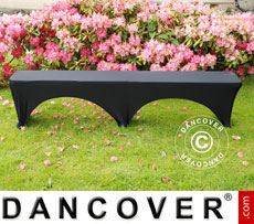 Stretch bench cover 183x28x43 cm, Black