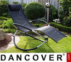 Sun Lounger Swing Black
