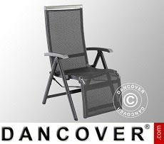 Folding chair with armrests, Forios, 61x78.5x110cm, Iron Grey