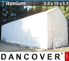Boat Shelter Titanium 5.5x15x4x5.5 m, White