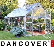 Greenhouse Polycarbonate Balance 8.9m², 2.44x3.67x2.29 m Silver