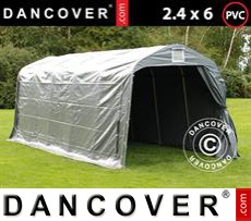 Storage tent PRO 2.4x6x2.34 m PVC, Grey