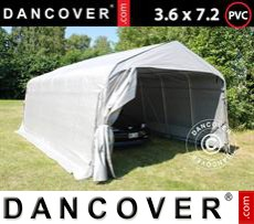 Portable Garage PRO 3.6x7.2x2.68 m PVC, Grey