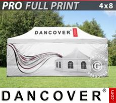 Pop up gazebo FleXtents PRO with full digital print, 4x8 m, incl. 4 sidewalls
