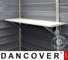 Shelf for Polycarbonate Garden shed, SkyLight, 30.5x84.7 cm, White