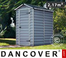 Polycarbonate Garden Shed, SkyLight, 1.23x1.78x2.04 m, Anthracite