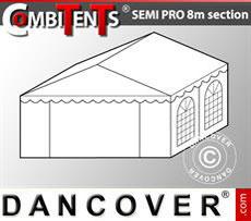 4m end section extension for Semi PRO CombiTent, 8x4m, PVC, White
