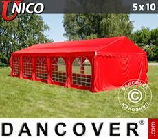 Marquee UNICO 5x10 m, Red