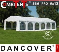 Marquee 6x12m 4-in-1, White