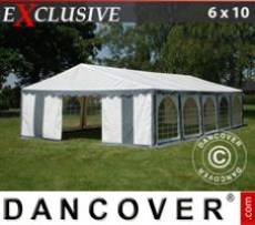 Marquee Exclusive 6x10 m PVC, Grey/White