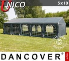 Marquee UNICO 5x10 m, Dark Grey