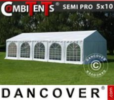 Marquee 5x10 m, 3-in-1, White