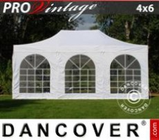 Marquee Style 4x6 m White, incl. 8 sidewalls