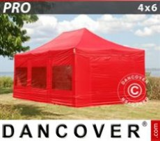 Marquee 4x6 m Red, incl. 8 sidewalls