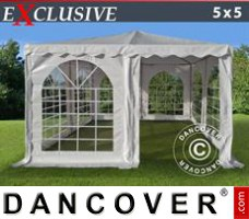 Marquee Pagoda Exclusive 5x5 m PVC, White