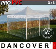 Pop up gazebo FleXtents Xtreme 3x3 m Clear, incl. 4 sidewalls