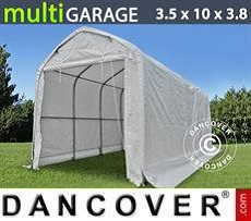 Camper Caravan Tents Storage shelter multiGarage 3.5x10x3x3.8 m, White
