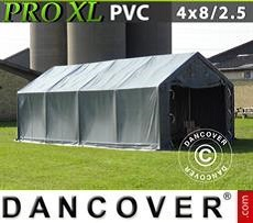 Camper Caravan Tents Storage shelter PRO 4x8x2.5x3.6 m, PVC, Grey