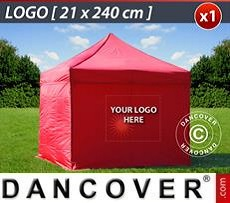 Logo Print Branding 1 pc. FleXtents sidewall print 21x240 cm