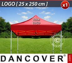 Logo Print Branding 1 pc. FleXtents roof cover print 25x250 cm