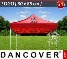 Logo Print Branding 1 pc. FleXtents roof cover print 30x85 cm