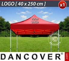 Logo Print Branding 1 pc. FleXtents roof cover print 40x250 cm
