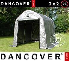 Portable Garage Storage tent PRO 2x2x2 m PE, Grey