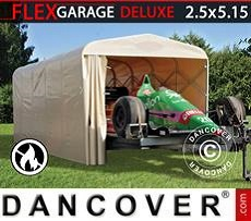 Portable Garage Folding tunnel garage (Car), 2.5x5.15x2.15 m, Beige
