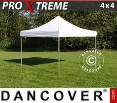 Racing tents Pop up gazebo FleXtents Xtreme 4x4 m White