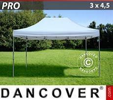Racing tents Pop up gazebo FleXtents PRO 3x4.5 m White