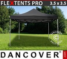 Racing tents Pop up gazebo FleXtents PRO 3.5x3.5m Black