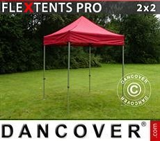 Racing tents Pop up gazebo FleXtents PRO 2x2 m Red