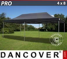 Racing tents Pop up gazebo FleXtents PRO 4x8 m Black