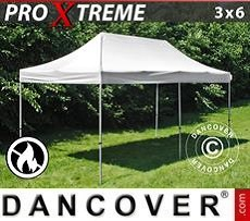 Racing tents Pop up gazebo FleXtents Xtreme 3x6 m White, Flame retardant