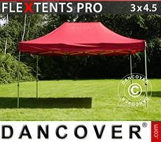 Racing tents Pop up gazebo FleXtents PRO 3x4.5 m Red