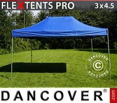 Racing tents Pop up gazebo FleXtents PRO 3x4.5 m Blue