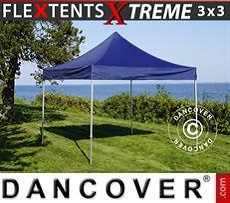 Racing tents Pop up gazebo FleXtents Xtreme 3x3 m Dark blue