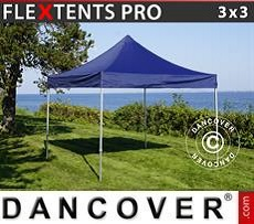 Racing tents Pop up gazebo FleXtents PRO 3x3 m Dark blue