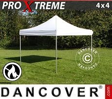 Racing tents Pop up gazebo FleXtents Xtreme 4x4 m White, Flame retardant