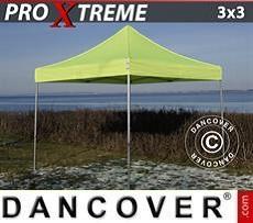 Racing tents Pop up gazebo FleXtents Xtreme 3x3 m Neon yellow/green