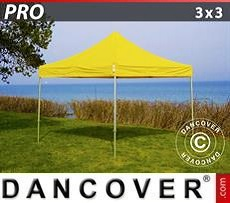 Racing tents Pop up gazebo FleXtents PRO 3x3 m Yellow