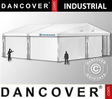 Storage buildings Industrial Storage Hall 10x10x4,52 m w/sliding gate, PVC, White