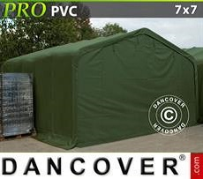 Storage shelter PRO 7x7x3.8 m PVC, Green
