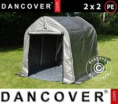 Storage tent PRO 2x2x2 m PE, with ground cover, Grey