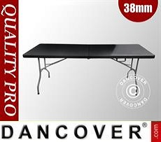 Folding Table 182x74x74 cm, Black (1 pc.)