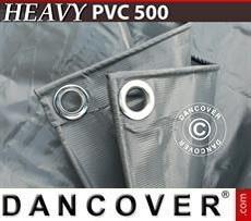 Tarpaulin 8x14 m PVC 500 g/m² Grey